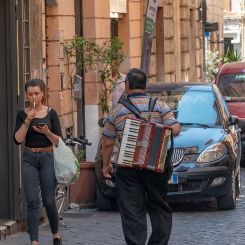 Street Accordion Player