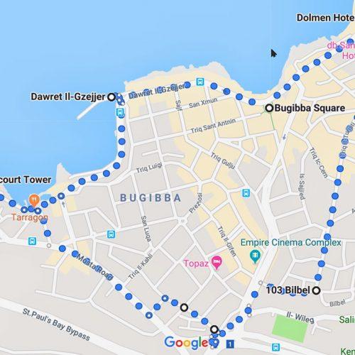 190619-St-Pauls-Bay, Malta-map-walk