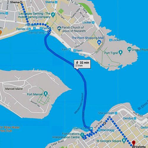 Ferry - Valletta to Sliema