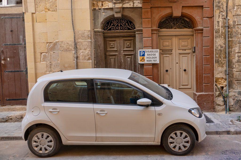 Valletta - Handicap parking