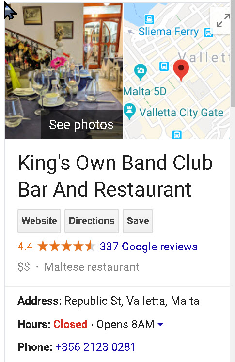 Valletta-King's Own Band Club